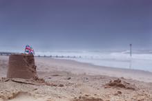 Beaches Lay Empty In Bad Weath...