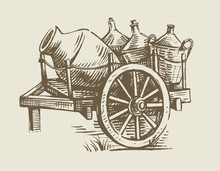Cart With Wine