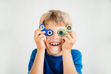 The Boy Looks Through Spinner