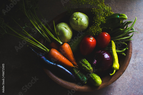 Foto op Canvas Kruiden Vegetables From the Garden