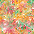 Autumn Leaves Pattern Watercolor