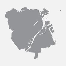 Copenhagen City Map In Gray On...
