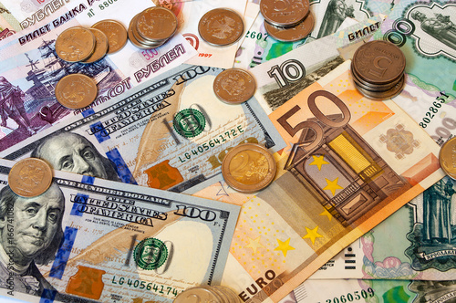 Dollars Rubles Euro