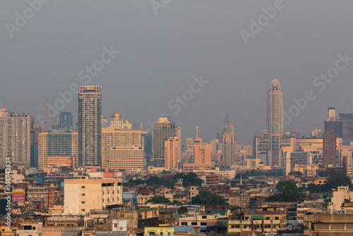 Staande foto Milan Panoramic view of Bangkok city