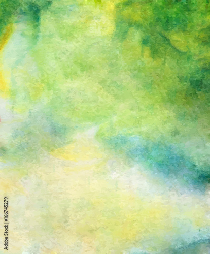 Obrazy zielone  vector-abstract-bright-green-blue-yellow-watercolor-background-for-your-design-greeting-cards