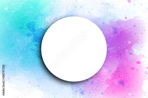 Photo Stands Painterly Inspiration Vector realistic isolated abstract background with watercolor splash and white blank frame for decoration and covering.