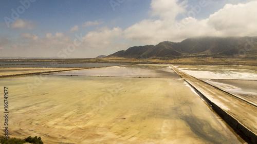 Spoed Foto op Canvas Zuid-Amerika land Aérea de paisaje salino