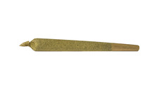 Premium Marijuana Joint Isolated On White Background (crushed Leaf Rolled And Dipped In Honey Oil Then Rolled In Kief Resulting In A Potent Cone Shaped Joint)