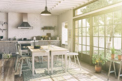 Nordische Küche   Skandinavische Nordische Kuche Esszimmer Wohnung Retro Look