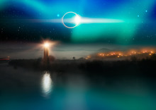 Solar Eclipse With Lighthouse ...