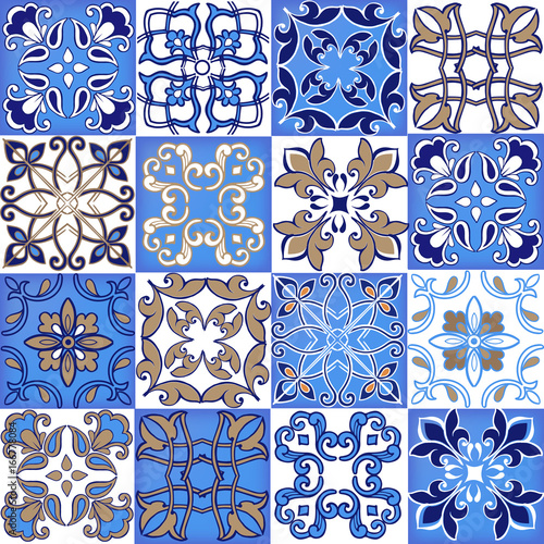 kolekcja-bez-szwu-patchwork-z-marokanskich-portugalskich-plytek-w-kolorach-niebieskim-i-brazowym