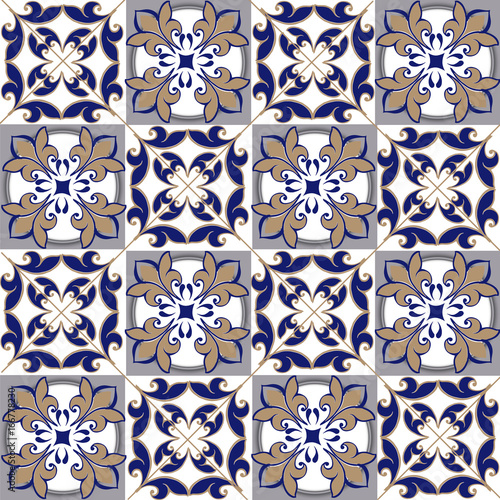 jednolity-wzor-patchworku-z-marokanskich-portugalskich-plytek-w-kolorach-niebieskim-i-brazowym-ozdobny-ornament-moze-sluzyc-do-tapety-tla-tkaniny-tkaniny
