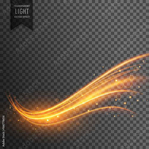 Fototapety, obrazy: stylish transparent light effect in wavy shape with trail and sparkle