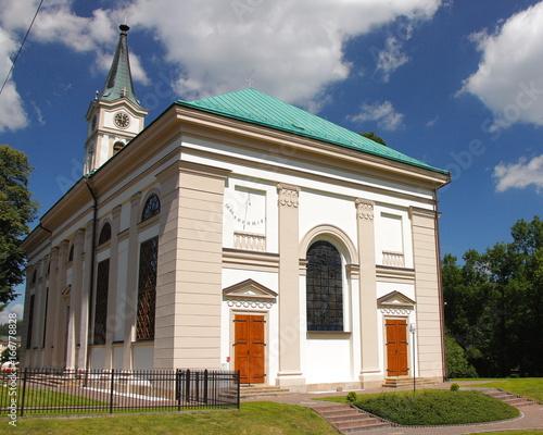 Kościół Ewangelicko-Augsburski apostołów Piotra i Pawła w Wiśle, wybudowany w 1838 roku w stylu klasycystycznym.