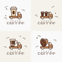 Four Logos For Street Cafe Con...