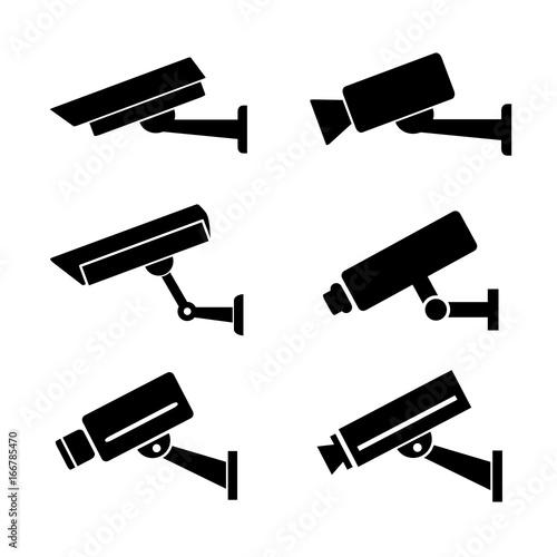 Fotografiet kamera przemysłowa ikony
