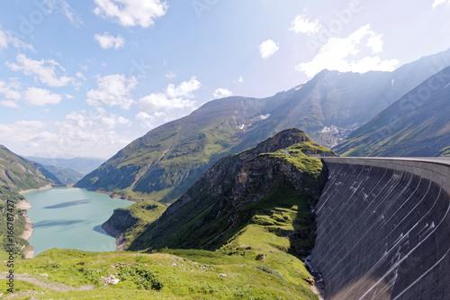 Deurstickers Dam Kraftwerk Kaprun
