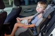 baby boy in car seat.