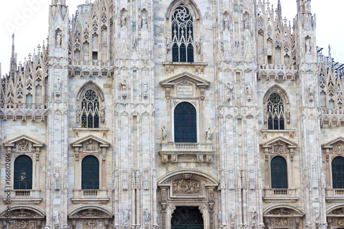 Foto op Canvas Milan The day view of Milan Cathedral or Duomo di Milano