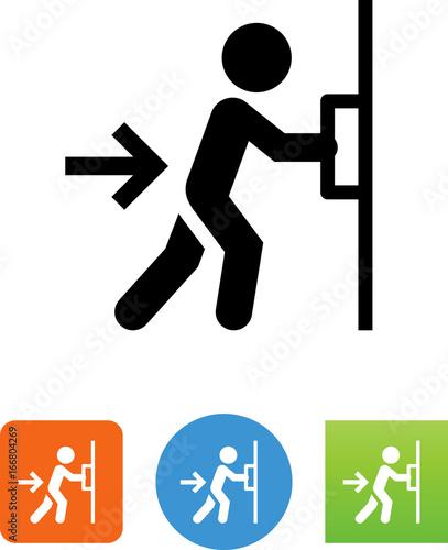 Push Door Icon  sc 1 st  Adobe Stock & Push Door Icon - Buy this stock vector and explore similar vectors ...