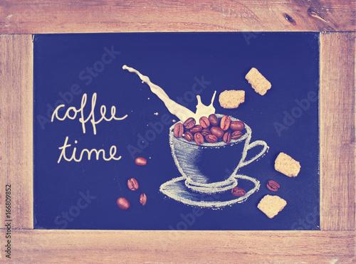 Kaffeezeit Kaffee Milch Und Zucker Buy This Stock Photo And