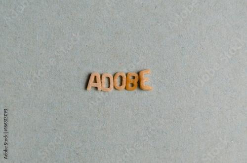 Adobe word Canvas Print
