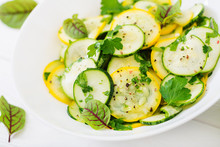 Salad Of Pickled Zucchini With...