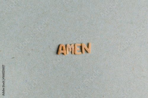 Amen word Canvas Print
