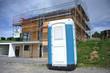 Mobile Bautoilette im Einsatz