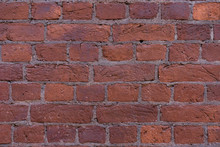 Red Brick Wall Texture Grunge Background, May Use To Interior Design