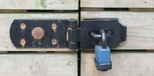 Locks And Bolts On Door / Shed