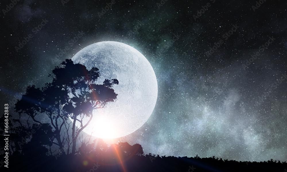 Night natural landscape
