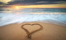 Heart On Beach.