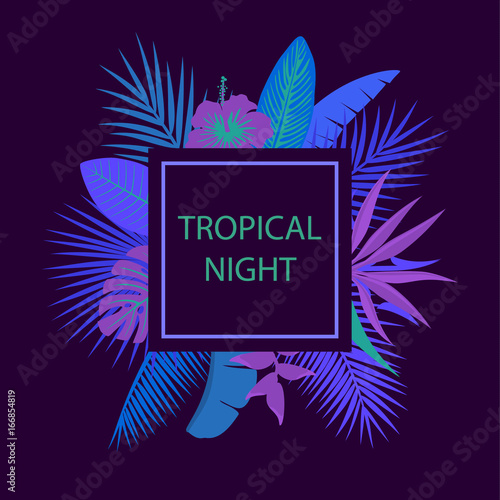 Foto  tropical night party background