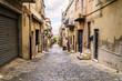 Street of sicilian town of interior
