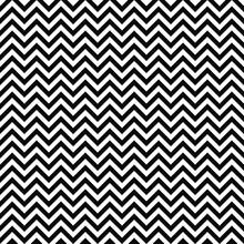 Vector Seamless Zigzag Pattern. Chevron Texture. Black-and-white Background. Monochrome Zigzag Stripes Design. Vector EPS10
