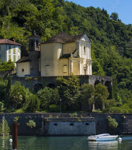 Photo  The pilgrimage church Madonna della Punta in Maccagno on Lake Maggiore - Maccagn