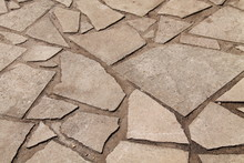 Traditional Crazy Paving On A ...