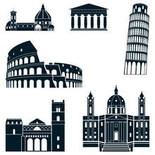 Italy Silhouette Set
