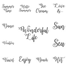 Wonderful Life Lettering. Hand...