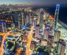 Glistening City Lights Of The ...
