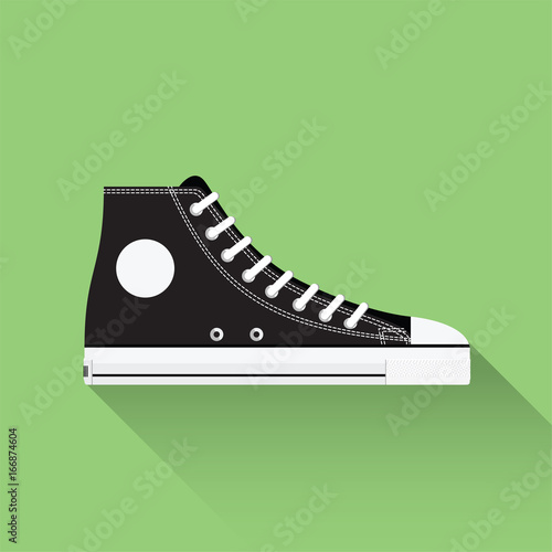 Fotografia vector drawn sport shoes, sneakers for summer