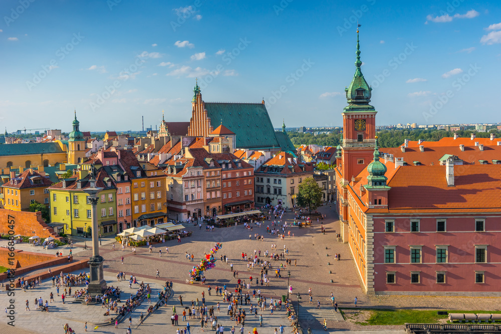 Fototapety, obrazy: Warsaw, Castle square, Capital of Poland