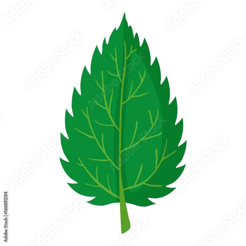 Nettle leaf icon, cartoon style Plakát