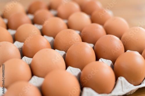Plakat Jajko z kurczaka w opakowaniu