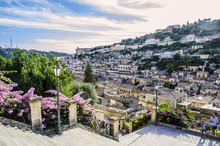 View Of The City Of Modica Fro...
