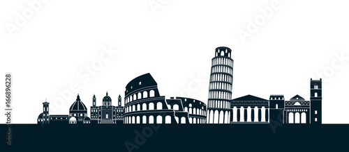 italy silhouette Rome