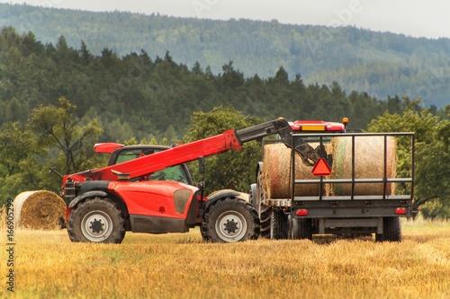 Fotografie, Obraz  Telescopic collector straw collector on field in the Czech Republic