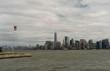 Manhattan skyline viewed from the water