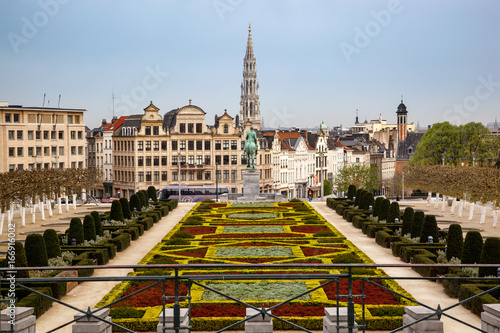 Garden Poster Brussels Brussels skyline Belgium